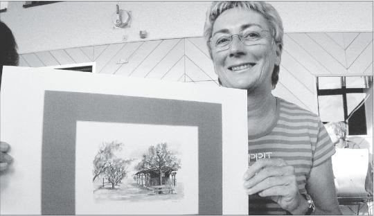 Marianne Lahmer hat bereits viele Holzheimer Motive gemalt. Bei